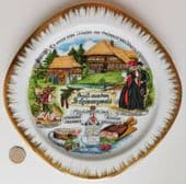 """Kleiber Black Forest picture plate made in Bavaria German porcelain 8"""" square"""
